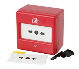 Conventionele handmelder met LED